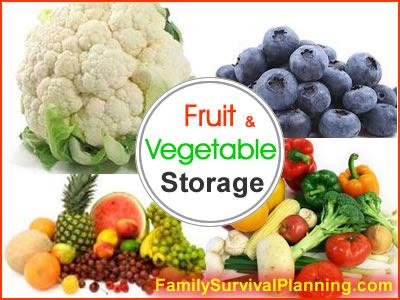 Fruit Storage - Vegetable Storage: Include in Your Food Storage