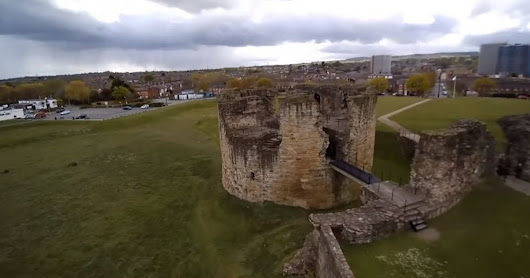 This amazing video captures the beauty of Flint Castle from the skies