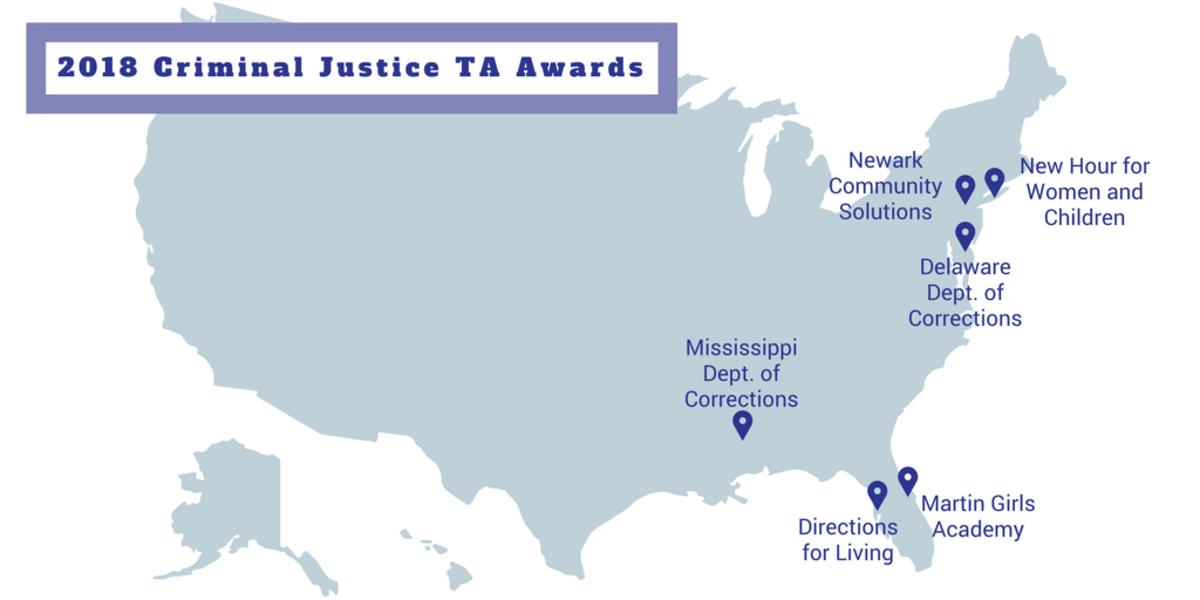 2018 Criminal Justice TA Awards