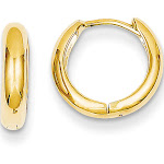 Versil 14K Yellow Gold Polished Hinged Hoop Earrings