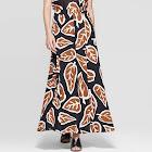 Women's High Slit A Line Maxi Skirt - Who What Wear Black