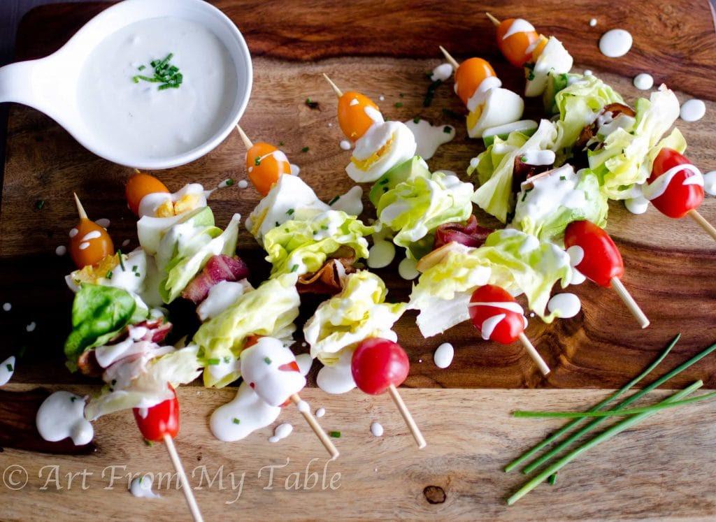 Cobb Salad on a Stick