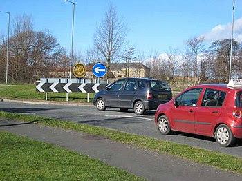 """English: """"Rotary"""" roundabout Adjacen..."""