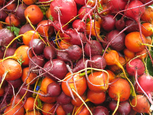 Colorful beets at the farmer's market