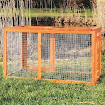 Trixie Pet Outdoor Run with Mesh Cover, Brown