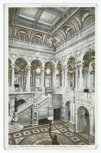 Central Stair Hall, Library of... Digital ID: 62124. New York Public Library