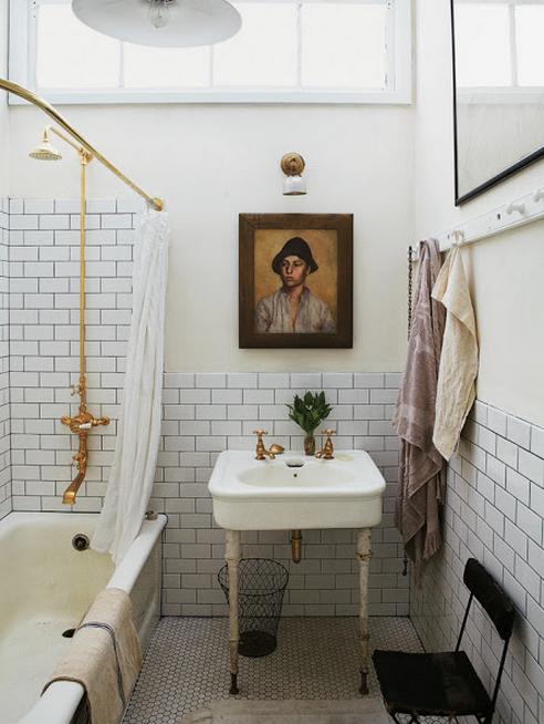 Elements Of A Vintage Bath... Cove Molding. Pedestal Sink ...