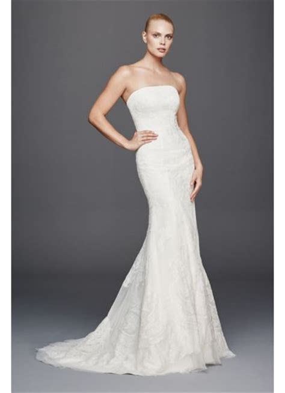 Truly Zac Posen Strapless Lace Wedding Dress   Davids Bridal