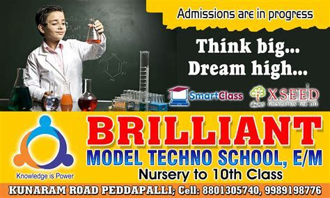 crescent and brilliant school banners .   SRIHITHA ADS
