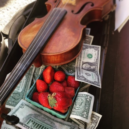 fgrossnicklaus: Killing it at the Eugene Market. Strawberries as tips, on to my next spot! #thingshappen...