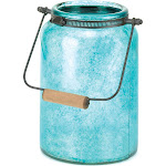 Blue Jar Candle Lantern by Gallery of Light