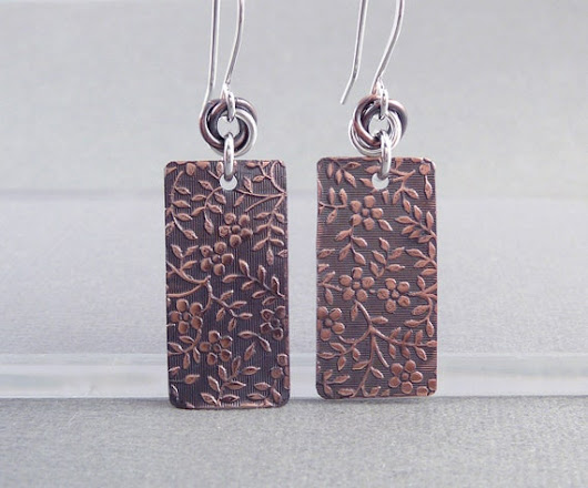 7th Anniversary Gift Copper Earrings Nickel Free Earrings
