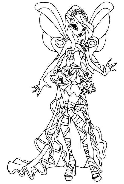 winx sirenix coloring pages sanat