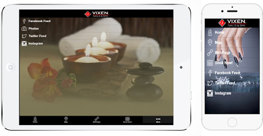 Download the Vixen® APP | Vixen® Nails•Salon•Spa