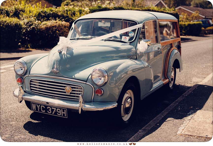 Morris Minor Vintage Car Wedding Photos Ipswich Suffolk
