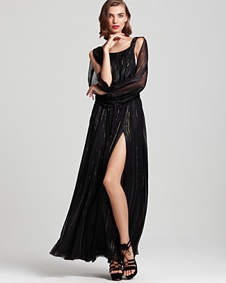Rachel Zoe Gown - Olivia Blouson Stripe Gown