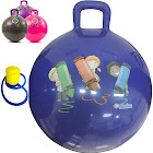 Hippity Hop 45 cm / 18 inch Diameter Including Free Foot Pump, for Children Ages 3-6 Space Hopper, Hop Ball Bouncing Toy