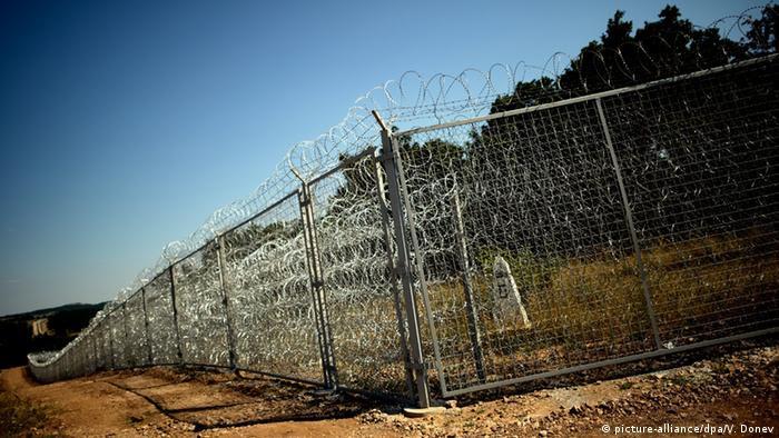 Grenze Bulgarien - Türkei: Sicherheitszaun (Foto: EPA/VASSIL DONEV)