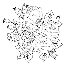 realistic rose coloring pages at getdrawings  free download