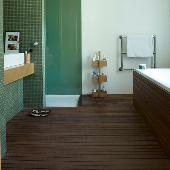 Slatted teak | Modern bathroom flooring ideas ...