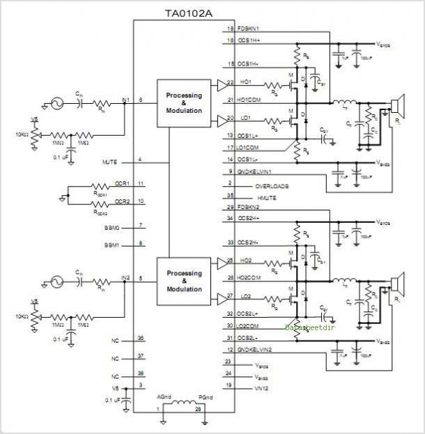 b amp s wiring diagram siwire: tea2025b amplifier circuit #10