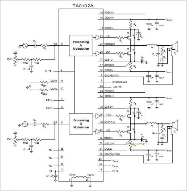 Siwire  Tea2025b Amplifier Circuit