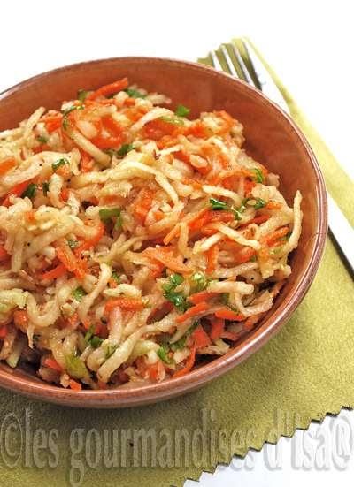 Salade de chou rave et carottes au s same - Cuisiner le choux rave ...