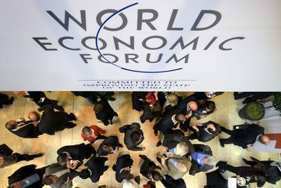 Participantes del foro de Davos