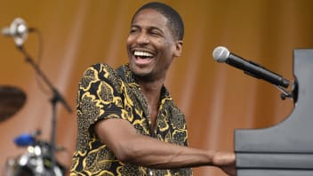 John Batiste of John Batiste and Stay Human performs during the 2017 New Orleans Jazz & Heritage Festival at Fair Grounds Race Course on April 29, 2017 in New Orleans, Louisiana.