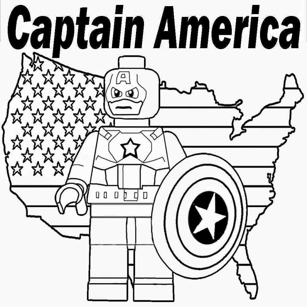 Coloring And Drawing Captain America Coloring Pages