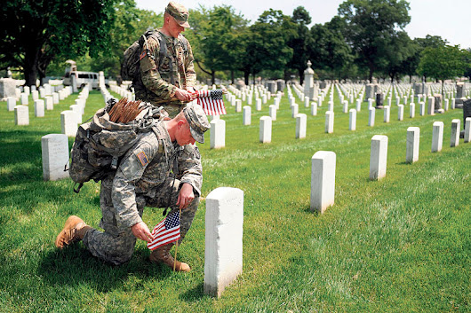Flags On Veterans' Graves