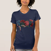 Vintage Patriotic Ribbon and Flowers Shirt