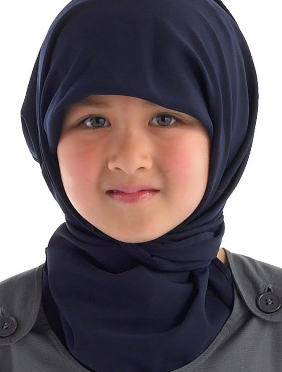 Rectangle Hijab Navy Shop at Discount Price Islamic Clothing
