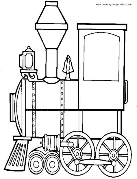 Locomotive color pages - Coloring pages for kids