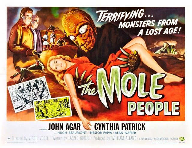 Reynold Brown - The Mole People (Universal International, 1956) half sheet 2