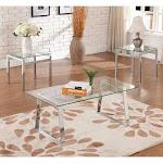 K&B Furniture T6197-E End Table, Chrome