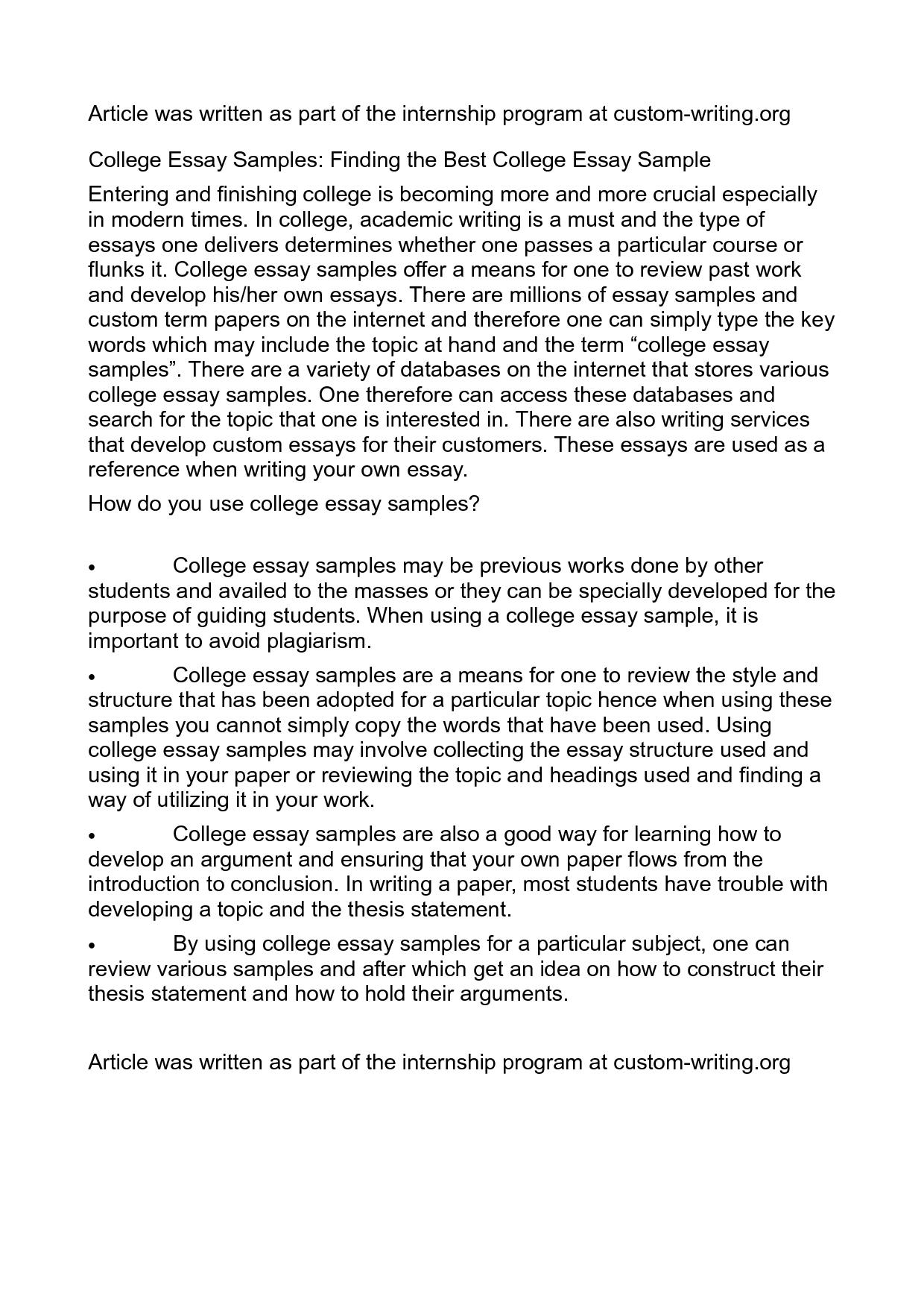 write college essay