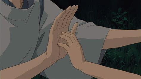 chihiro  hakus hand touch chihiro  haku