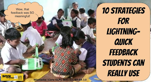 10 strategies for lightning-quick feedback students can REALLY use