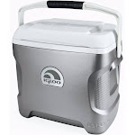 Igloo 28-Quart Iceless Thermoelectric Cooler - Silver/White