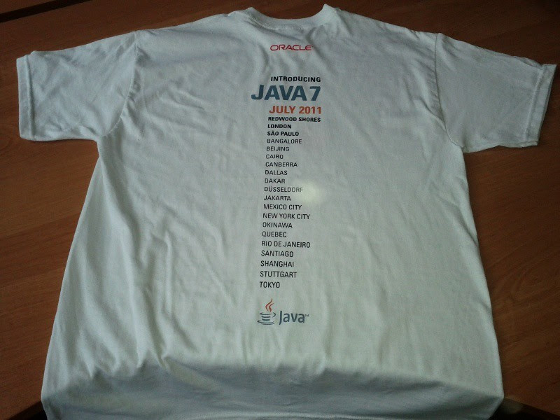 Win Oracle Java T-Shirts (Worldwide)