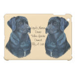 black labrador dog portrait realist art iPad mini cases