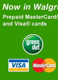 Green dot visa/mastercard prepaid debit card