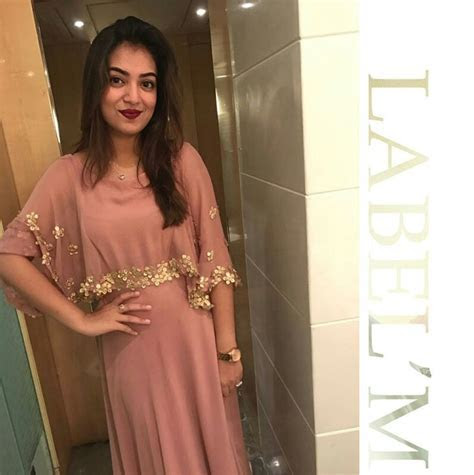 Actress nazriya nazim in a Label'M Cape gown   celebrities