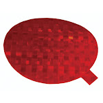 """Grote 41142 Reflector, 3"""" Round , Red, Stick-On, Class """"A"""" Tape"""