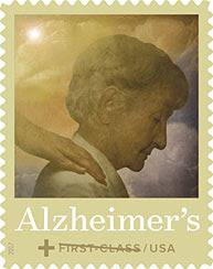 Alzheimer's semipostal fundraising stamp