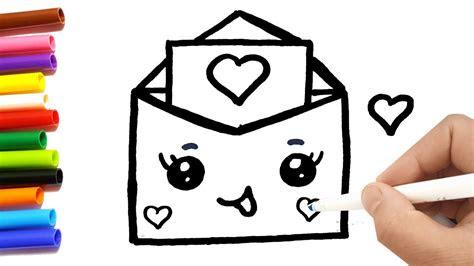 disegnare una lettera damore kawaii youtube