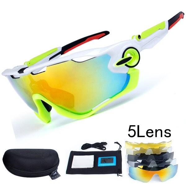 bf5db6444d Comprar 2018 Polarizadas Gafas De Ciclismo Bicicleta Montaña 5 Lente UV400  Sol Bicicletas Online Baratos   ringolp