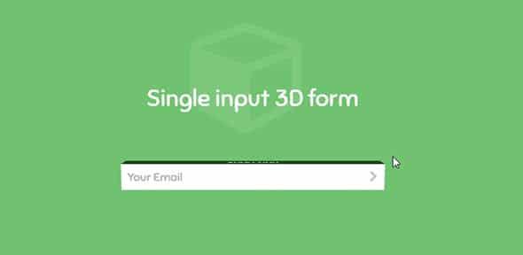 Single-input-3D-form