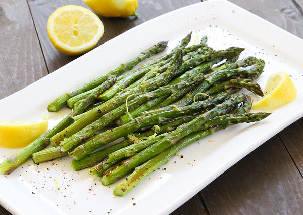 Roasted or Grilled Asparagus with Lemon
